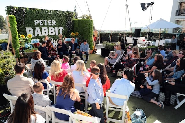 Peter Rabbit Press Conference with Kids