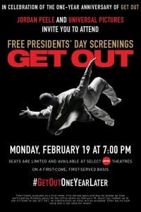 "Free Presidents' Day Screenings of ""Get Out"" at Select AMC Theatres"