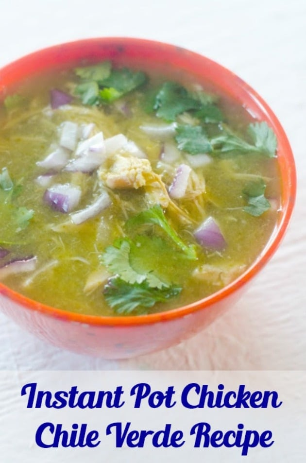 Instant Pot Chicken Chili Verde Recipe pin