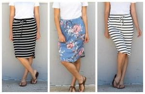 Comfy Weekend Skirts Just $12.99!