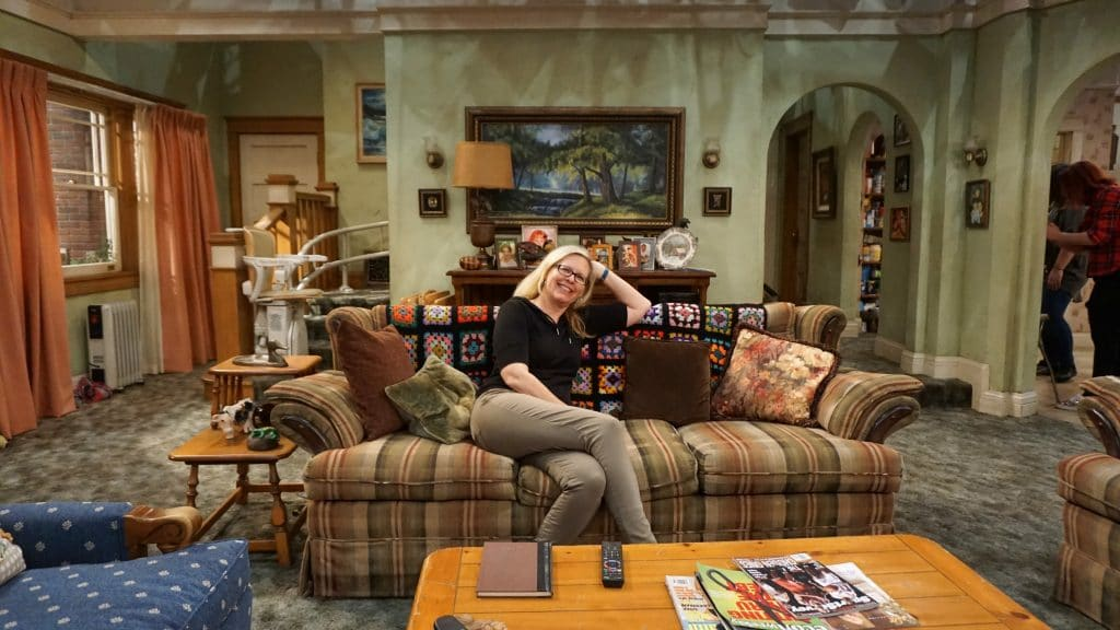 Couch with Afghan on Roseanne Set