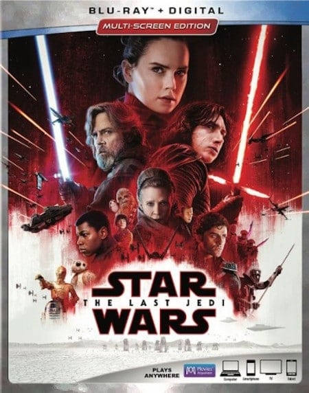 Star Wars The Last Jedi BluRay