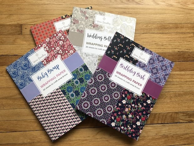 New Vera Bradley Wrapping Paper Books with Gift Tags