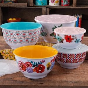 The Pioneer Woman 10-Piece Mixing Bowl Set for $24.50 (50% Off)