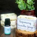Easy DIY Rosemary Vanilla Essential Oil Soap