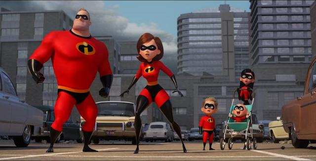 Incredibles 2 Family City Scene