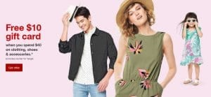 Target: Free $10 Gift Card When You Spend $40 on Clothing, Shoes, and Accessories