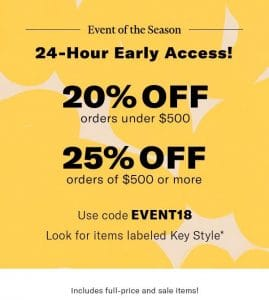 SHOPBOP End of the Season Sale – Save Up to 25%!