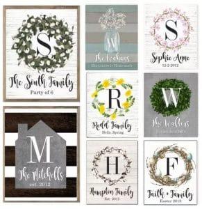 Personalized Family Monogram Art Prints – Just $5.88!