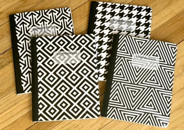Composition Book Black & White Fashion Print