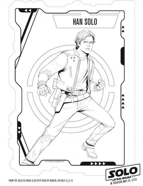 Han Solo Printable Coloring Sheet
