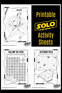 SOLO Star Wars Printable Activity Sheets – Coloring Pages, Puzzles and More!