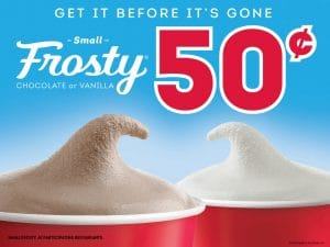 Get a Small Wendy's Frosty for 50¢