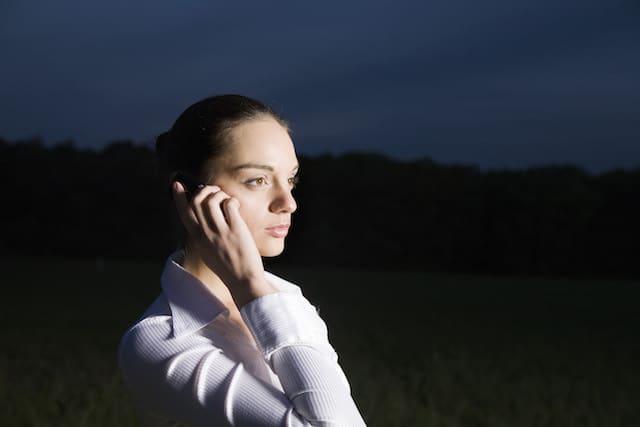 Woman Flashlight