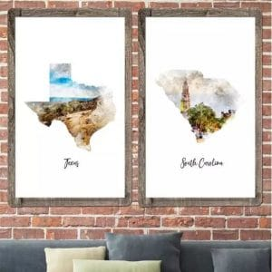 Watercolor Map Posters – $11.99 + Free Shipping!