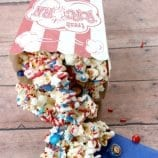 Patriotic Popcorn Recipe – Red, White and Blue Perfect for 4th of July!