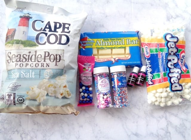 4th of July Popcorn Ingredients
