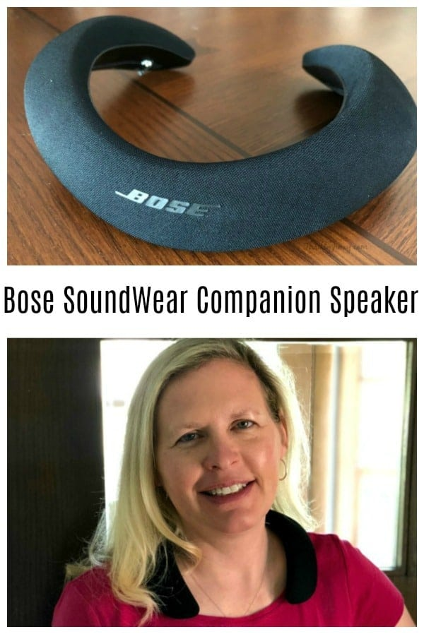 The Bose SoundWear Companion Speaker is a wearable speaker that sits on your neck so you can take your music or your phone calls everywhere you go while keeping your ears free. It's perfect for the home office, car and working out!  #audio #speaker #Bose