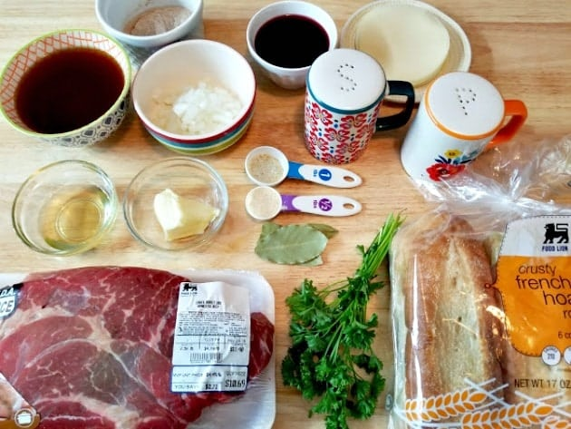 Instant Pot French Dip Sandwich Ingredients