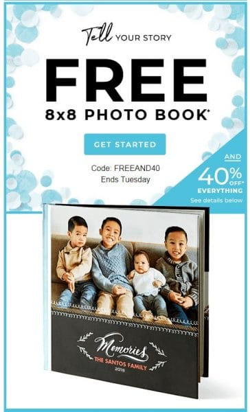 free 8x8 hardcover photo book from shutterfly just pay shipping