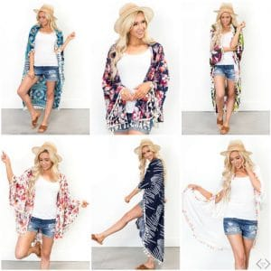 Super Cute Fashion Kimonos and Wraps 50% Off + FREE Shipping