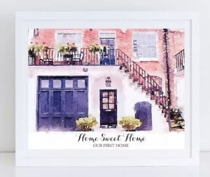 Custom Watercolor House Print + Free Print Just $18.99!