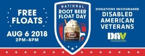 FREE Small Root Beer Float at A&W – Monday, August 6th
