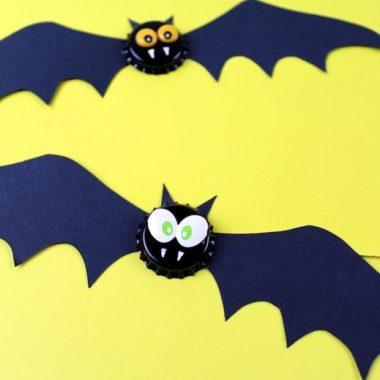 Bottle Cap Bat Magnet Craft