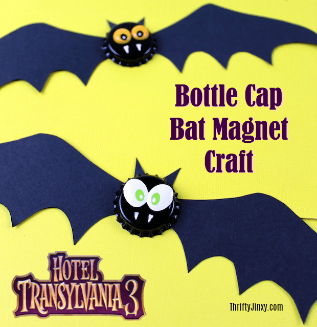 Bottle Cap Bat Magnet Craft Hotel Transylvania 3