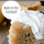 Butter Pecan Pear Cake Recipe in the Crockpot