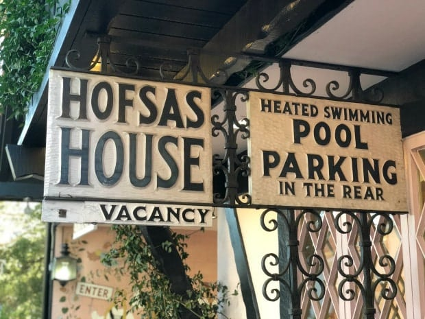 Hofsas House Sign Carmel by the Sea California