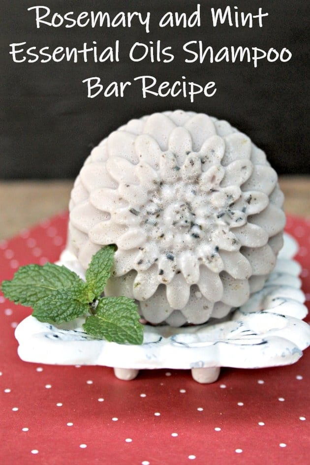 Rosemary and Mint Essential Oils Shampoo Bar Recipe