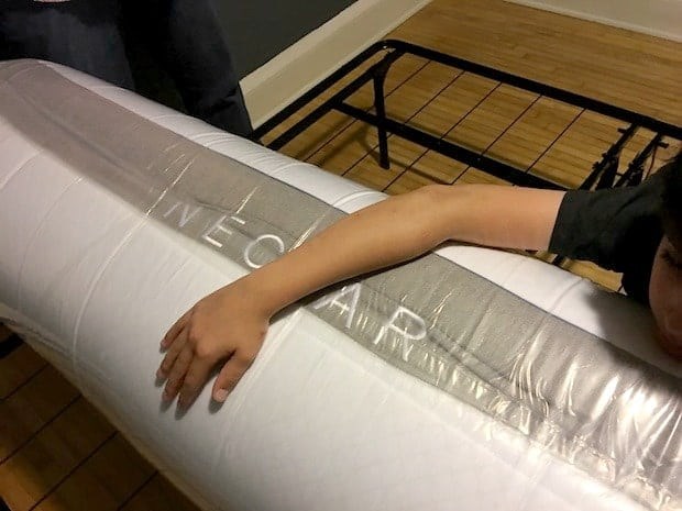 NECTAR Mattress Plastic Wrapping
