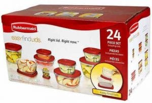 24 Piece Rubbermaid Food Storage Set Only $8.98!