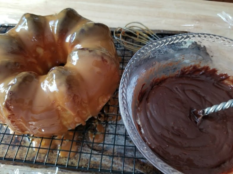 Twix Candy Bar Bundt Cake Recipe Step 6