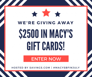 Macy's Black Friday in July Giveaway – 50 Gift Cards to Win!