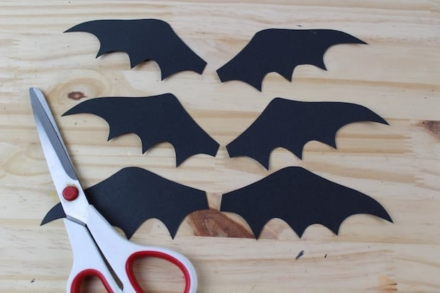 bat wings black card stock
