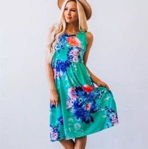 Floral Boho Dress with Pockets Only $18.98 Shipped!