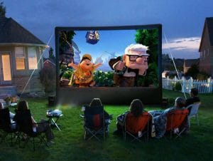 Host an Outdoor Movie Night with This Insignia Projector Screen Package