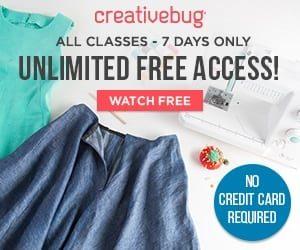 Creativebug: FREE Week of Art and Craft Classes!