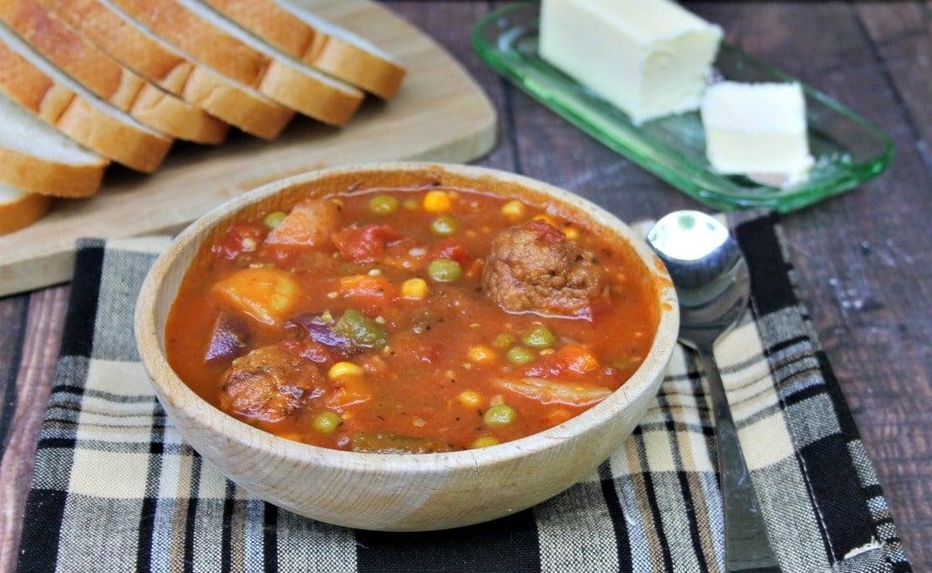 Instant Pot Meatball And Potato Soup Recipe