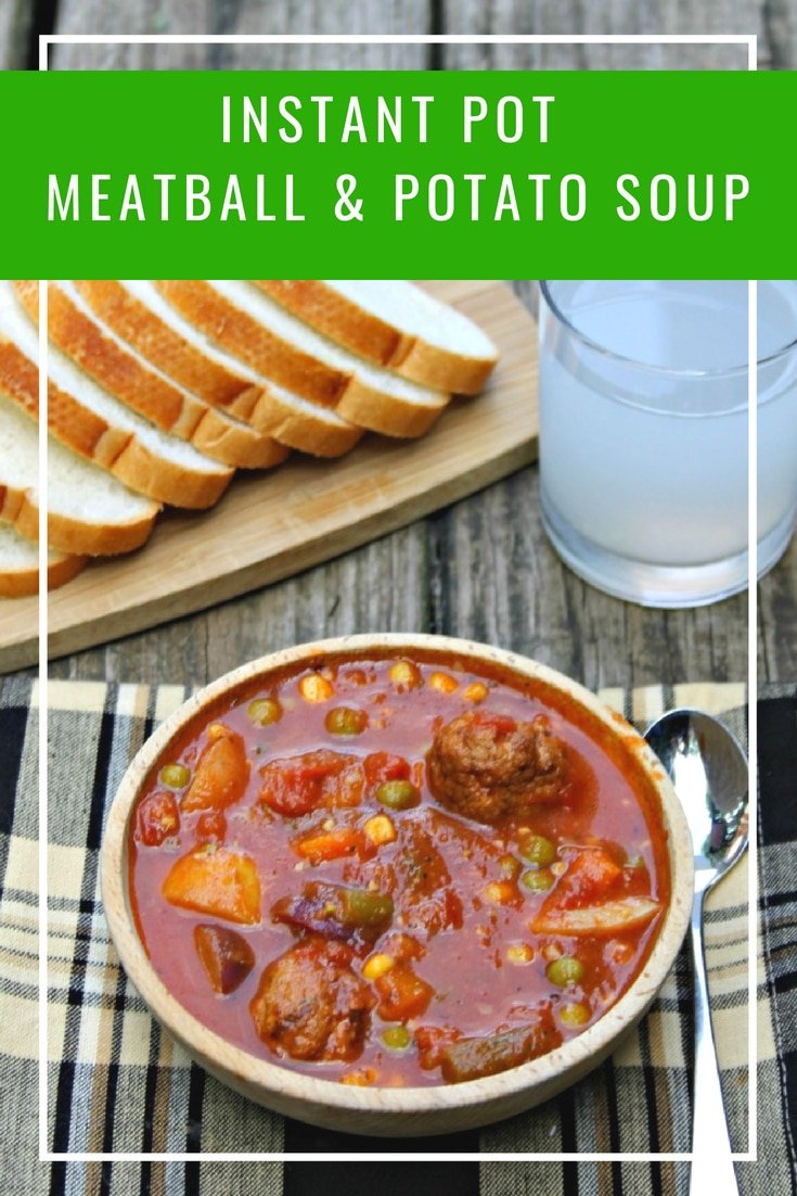 Instant Pot Meatball And Potato Soup Recipe