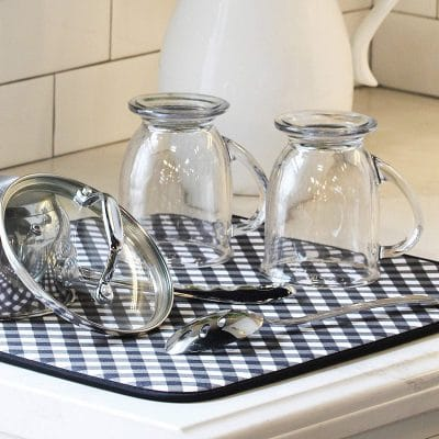 The Dish Drying Mat Is New Solution To Age Old Tradition Of Placing Towels On Counter When Hand Washing Pots Pans Dishes And Glassware