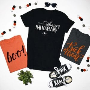 Halloween Tees $15.99 + FREE Shipping (Choose from 3 Designs and 5 Colors)