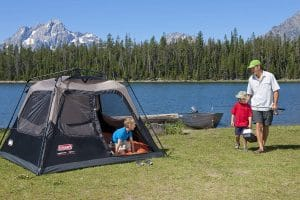 Stay Dry While Camping with This Coleman 4-Person Instant Cabin