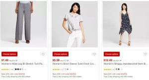Target.com: Extra 20% Off Clearance Clothing and Shoes