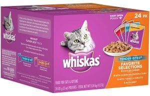 Whiskas Wet Cat Food Pouches 24-Pack Just $4.27 + FREE Shipping!