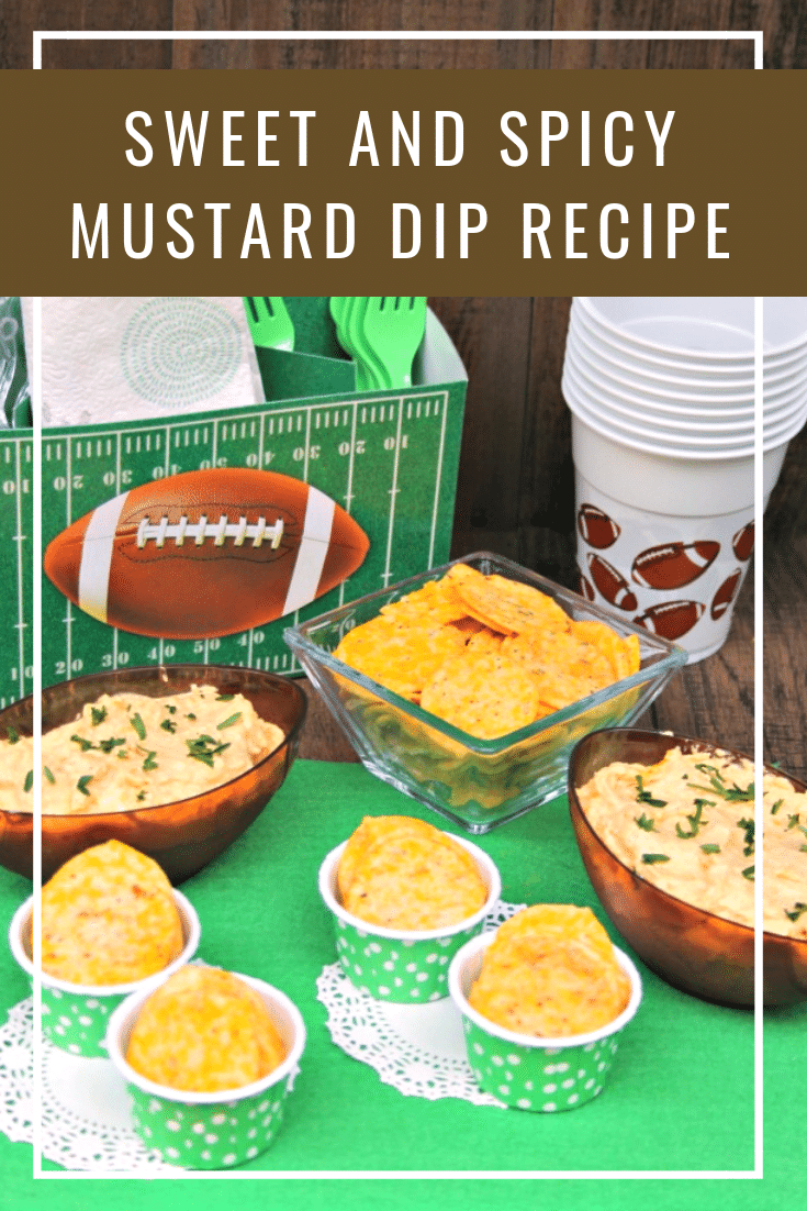 Sweet And Spicy Mustard Game Day HomeGate Dip Recipe pin