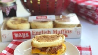 Toasty Ham, Cheese and Egg Sandwich with Bays English Muffins