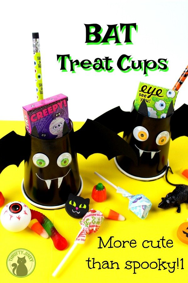 DIY Halloween Bat Treat Cups